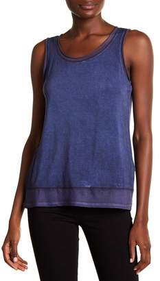Cable & Gauge Rolled Mesh Trim Tank Top