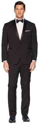Kenneth Cole Reaction Slim Fit Shawl Collar Tuxedo w/ Stretch Men's Coat