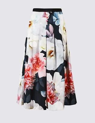 Marks and Spencer Floral Print Full Skirt