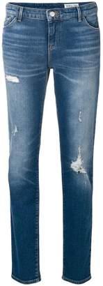 Emporio Armani slim fit distressed jeans