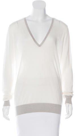 JOSEPHJoseph Metallic V-Neck Sweater