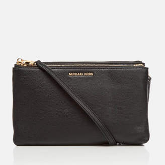 MICHAEL Michael Kors Women's Double Zip Cross Body Bag - Black