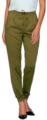 Halston H By H by Regular Woven Pull-On Drawstring Jogger Pants