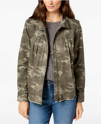 Style&Co. Style & Co Cotton Camouflage-Print Jacket, Created for Macy's