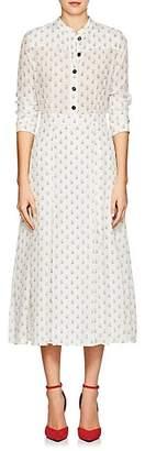 Barneys New York Women's Floral Silk Crêpe De Chine Maxi Shirtdress - Ivorybone