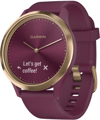 Garmin Unisex vivomove Hr Sport Berry Silicone Strap Hybrid Touchscreen Smart Watch 43mm