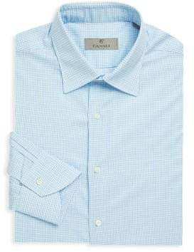 Canali Gingham Cotton Dress Shirt