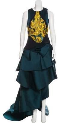 Antonio Berardi Duchesse Jacquard Gown w/ Tags