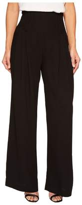 Catherine Malandrino Deco Pleated Wide Leg Trousers Women's Casual Pants