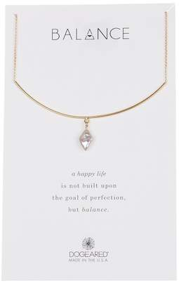 Dogeared Balance Delicate Bar & Freshwater Pearl Necklace