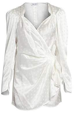 ATTICO Women's Stars Jacquard Wrap Dress