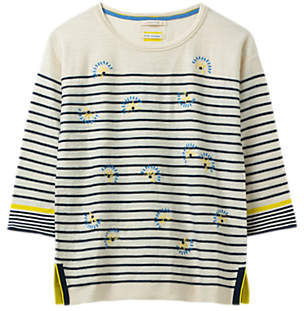 White Stuff Captain Embroidered Stripe Jumper