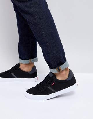 Levi's Levis Skinner Reguar Black Canvas Trainers
