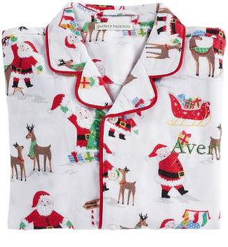 Pottery Barn Kids Jolly Santa Loose Fit Pajama, 2T