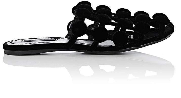 Alexander Wang Women's Amelia Velvet Slide Sandals