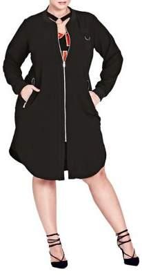 City Chic Plus Fresh Vibe Longline Jacket