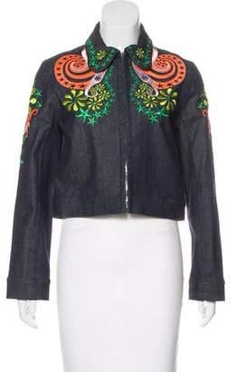 Holly Fulton Denim Embroidered Jacket