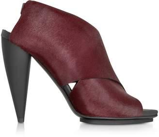 Proenza Schouler Bordeaux Kebir Haircalf Slingback Sandal