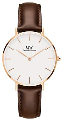Daniel Wellington Women's Petite Leather Strap Watch