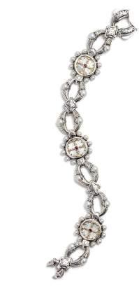 Konstantino Silver Mother-of-Pearl & Ruby Bracelet