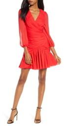 Jill Stuart Ruched Chiffon Cocktail Dress