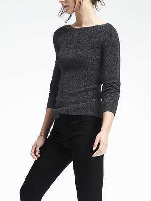 Metallic Tunic Sweater $88 thestylecure.com