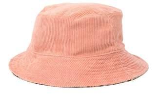 BCBGMAXAZRIA Reversible Corduroy & Houndstooth Bucket Hat