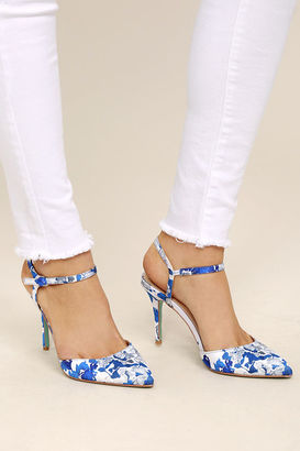 Betsey Johnson SB-Anina Blue Multi Heels $99 thestylecure.com