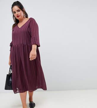 Junarose metallic smock dress