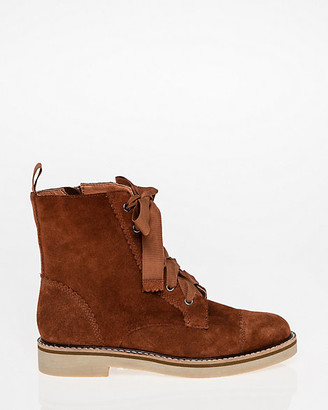 Le Château Suede Lace-Up Combat Boot