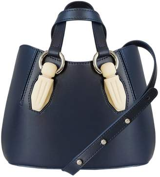 AEVHA London - Mini Garnet Tote In Navy With Resin Hardware