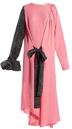 J.W.Anderson Asymmetric Sleeve Dress - Womens - Pink Multi