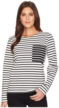 Lauren Ralph Lauren Striped Cotton Pocket T-Shirt Women's T Shirt