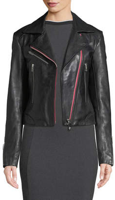 Rag & Bone Griffin Zip-Front Leather Jacket