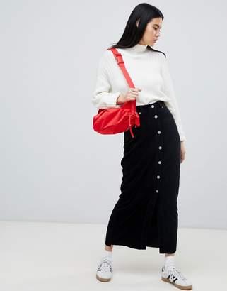 Dr. Denim cord button through venla skirt exclusive to ASOS