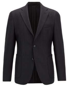 BOSS Hugo Slim-fit blazer in micro-structured stretch virgin wool 36R Black