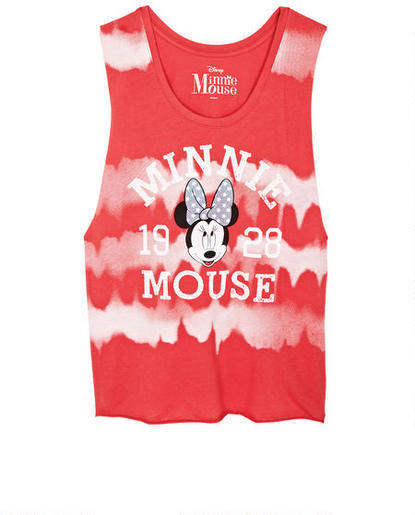 Delia's Tie-Dye Minnie Mouse Muscle Tank