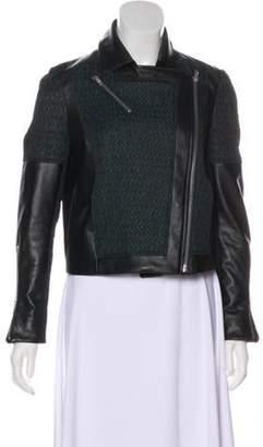 Helmut Lang Quilt Paneled Leather Jacket Black Quilt Paneled Leather Jacket