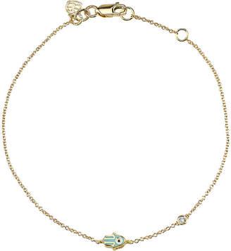 Sydney Evan The Alkemistry Hamsa 14ct yellow gold and diamond bracelet
