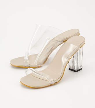 SLY (スライ) - Clear Heel Sandal