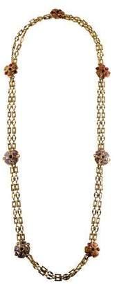 Chanel Gripoix Floral Station Necklace
