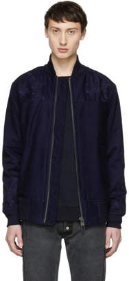 Blue Blue Japan Indigo Noshi Bomber Jacket
