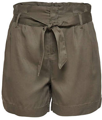 Only Loose Paperbag Belted Shorts