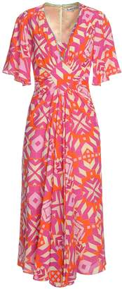 Libelula Jessie Dress - Pink Geometric Print