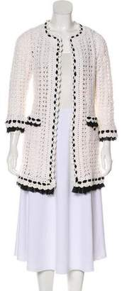 Chanel Knit Open Front Cardigan