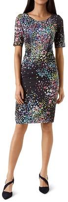 HOBBS LONDON Lauren Printed Dress $355 thestylecure.com