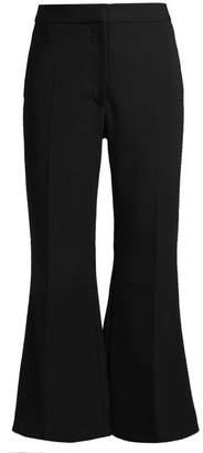 Stella Mccartney - Angela Kick Flare Cropped Stretch Wool Trousers - Womens - Black