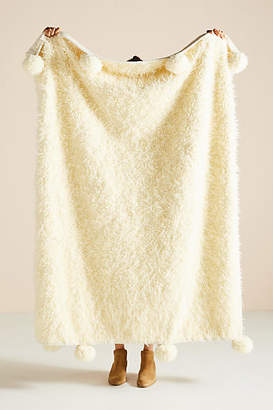 Anthropologie Bailey Faux Fur Throw Blanket