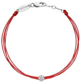 Redline Illusion Diamond Brode Bracelet - White Gold