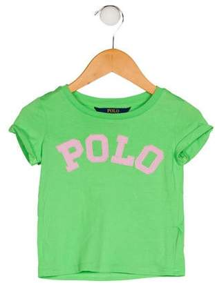 Polo Ralph Lauren Girls' Logo Knit Top